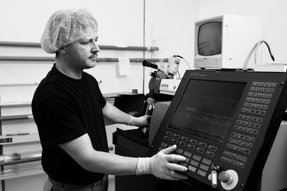 Einrichtung eines Laserschneiders zur Stentherstellung