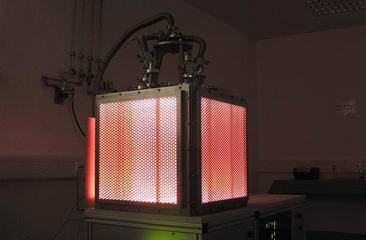 Rot leuchtende Niederdruckplasma-Beschichtungskammer